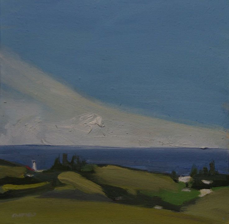 Above Byron Too. Oil on calico on board. Painted on site in the hills above Byron Bay... 290mm x 290mm.