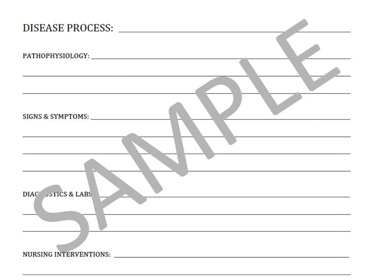 Blank Template For Notes PDF File Nursing