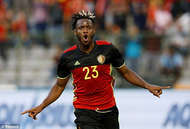 Chelsea striker Michy Batshuayi gave Belgium a first half lead in the 25th minute