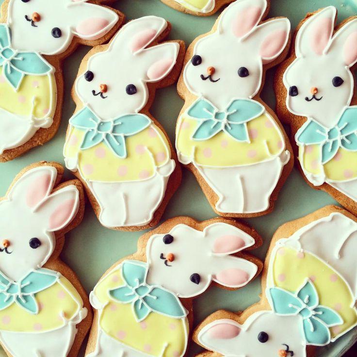 日本人のおやつ♫(^ω^) Japanese Sweets ウサちゃんクッキー bunny cookies