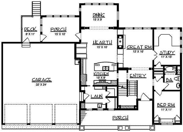- 73048HS | 2nd Floor Master Suite, Craftsman, Den-Office-Library-Study, Loft, MBR Sitting Area, PDF, Photo Gallery | Architectural Designs