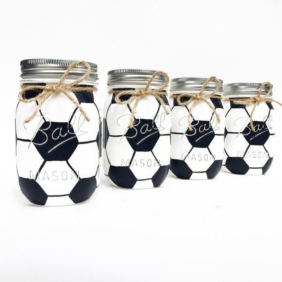 Soccer Mason Jar Soccer Gift Birthday by MidnightOwlCandleCo