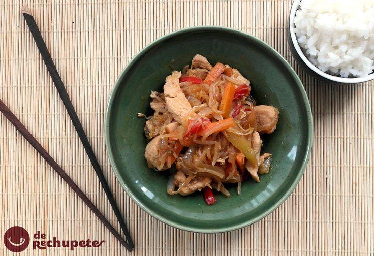 Cerca del fin de semana, os propongo una receta con un toque exótico, desde China, Chop suey de pollo http://www.recetasderechupete.com/chop-suey-de-pollo-receta-china/11219/ #receta