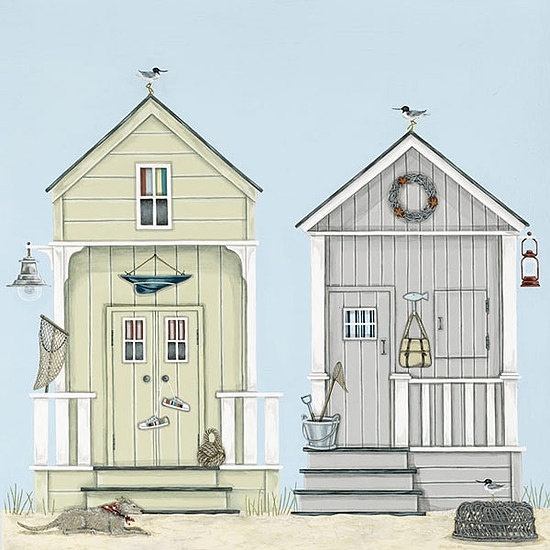 Beach Huts by Sally Swannell
