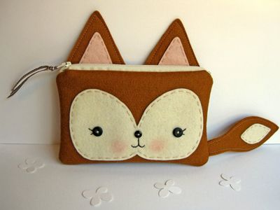 Fox Pencil Case :) OMG I SO WANT THIS!!