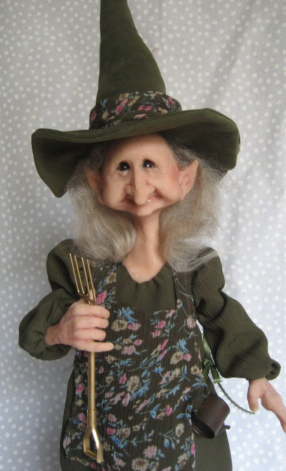 WITCH HAZEL ~  One-of-a-Kind Art Doll  ~  Terry Richards  ~  Come See !!