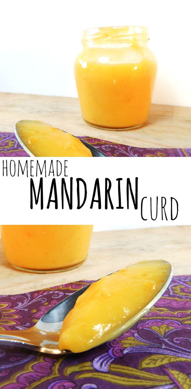 Homemade mandarin (clementine) curd