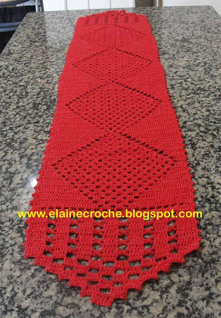 Elaine Croche: Caminho de Mesa Biquinho - Crochê