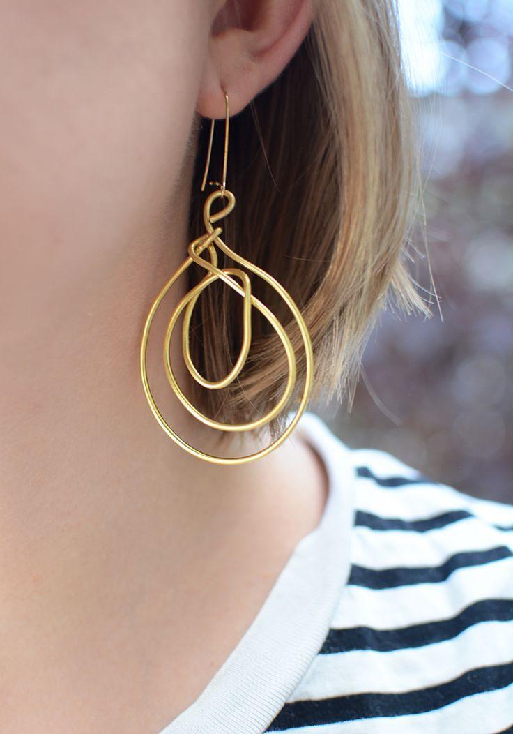 DIY: Statement-Ohrringe aus Draht