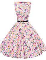 maggie tang vrouwen jaren '50 vintage bloemen rockabilly Hepburn pinup cos partij swing jurk 533