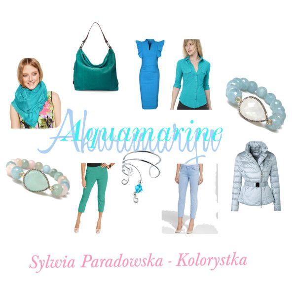 Kolory Wiosny 2015 - AQUAMARINE by paradowskasylwia on Polyvore featuring uroda, Calvin Klein, Bling Jewelry, Ellington, Jolie Moi, James Perse, ESCADA, 7 For All Mankind and Alfani
