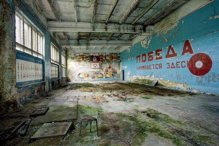 Terk edilmiş Sovyet binaları