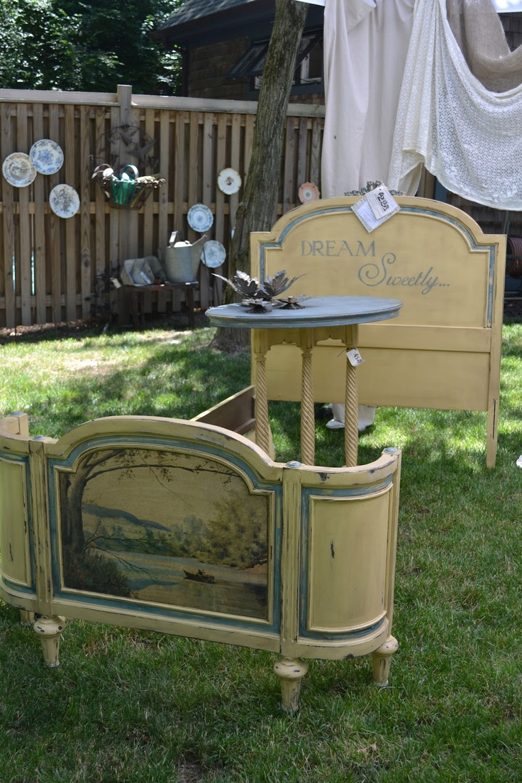 Turn Junk Into Treasure ~ Beautifully redone vintage find ~ Inspiring ~ by:: The Gilded JunqueYard