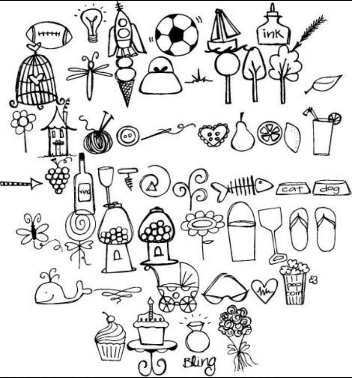 doodles doodle drawings simple easy drawing random google fonts flower cherry dad blossom sketch dibujos siluetas fun tutorial scrollwork tattoos