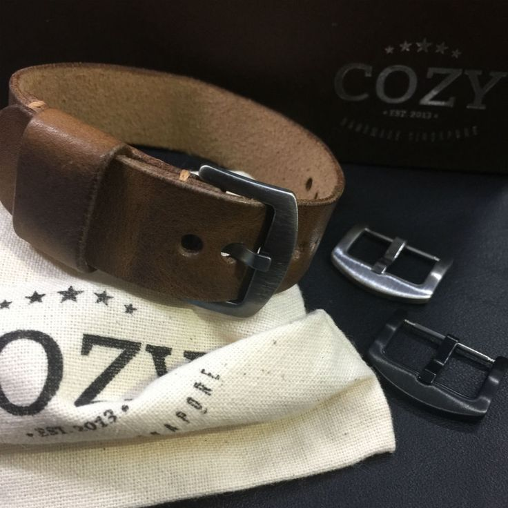 Handmade Italian Veg Tanned Vintage 402 Leather NATO Strap (20mm, 22mm) #COZYHandmade
