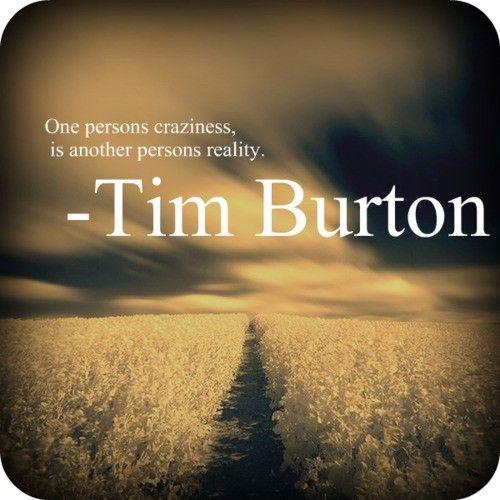 Tim Burton's wise words