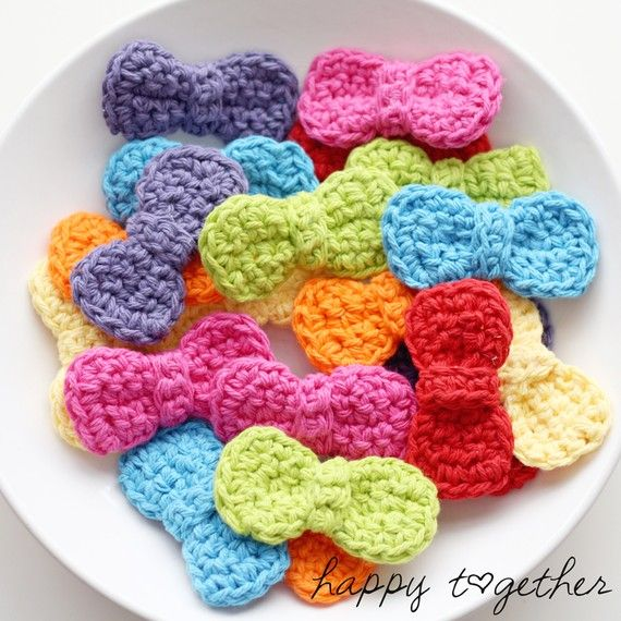 Bright Crocheted Hair Bows