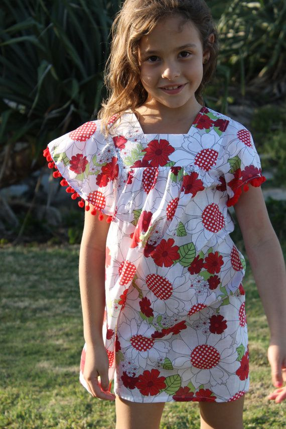 Pink Leaf Indian Block Print Summer Dress with by HullabalooKids