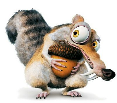 Scrat (also known as The Scrat and Squeak Attack) is an acorn-obsessed saber-toothed squirrel, one of the main characters in the Ice Age film series, and the main protagonist in the shorts, Gone Nutty, No Time For Nuts and Scrat's Continental Crack-up.