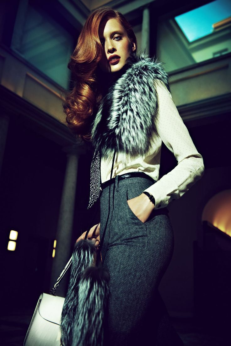 Love mixing professional look with some glamour. The fur collar definitely perfects the look.