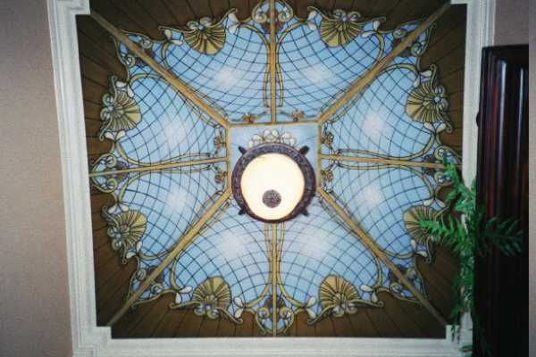 Trompe l'oeil Stain Glass Ceiling Murals...Painted Stain Glass ...