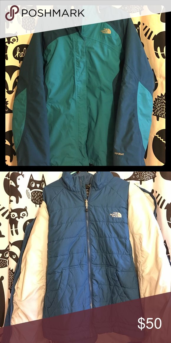 North Face Triclimate Hooded Winter Jacket 3-in-1 winter jacket with waterproof shell and removable , insulated liner. In very good condition. The North Face Jackets & Coats