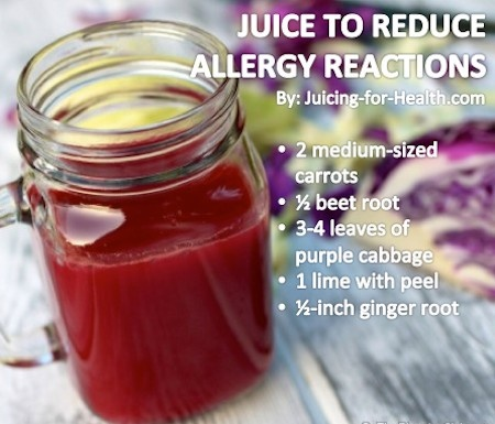 Juice to Reduce Allergy Reactions