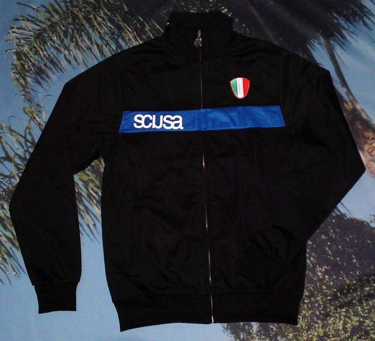 CALCIO ITALIA track jacket in SONNY BLACK    more info: www.scusa.com