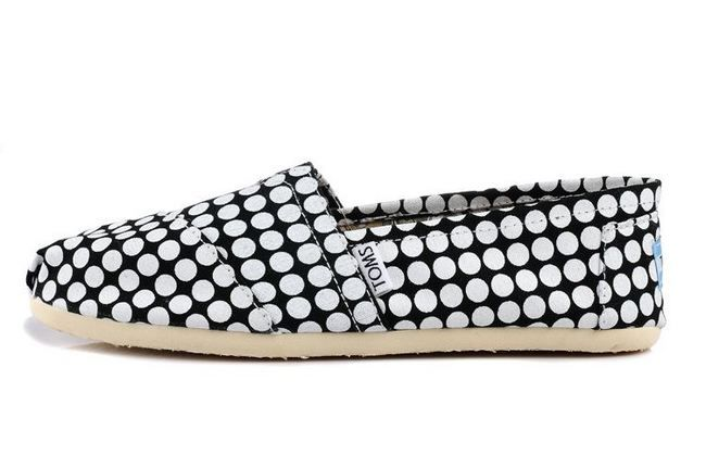 New Arrival Toms women shoes White dot