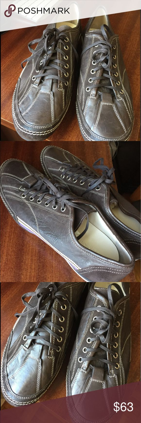 New BACCO BUCCI mans shoes  Made in Italy New Made in Italy Fashion Sneakers Brown leather and suede  Bacco Bucci Shoes