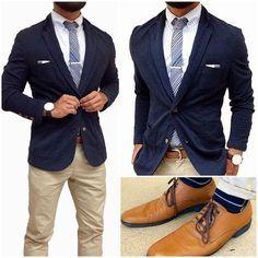 Slim fit suit jacket with chinos ⋆ Men's Fashion Blog - TheUnstitchd.com