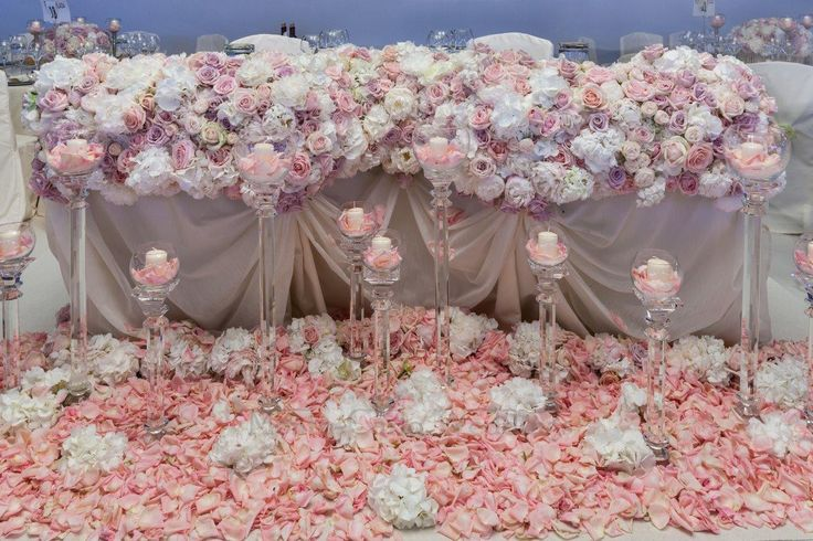 Statement head table for two. Wedding by Monte-Carlo Weddings.