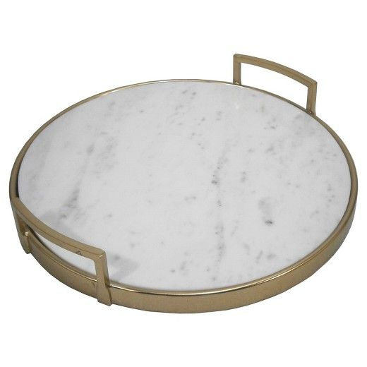 Gold And Marble Tray - Threshold : Target