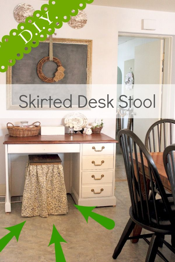 The Creek Line House: DIY Skirted Desk Stool