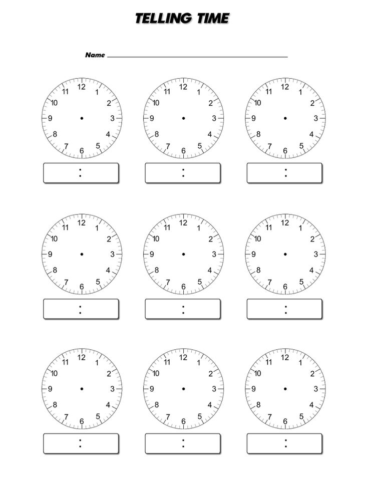Blank Clock Face Worksheet Telling | Mathematics | Clock
