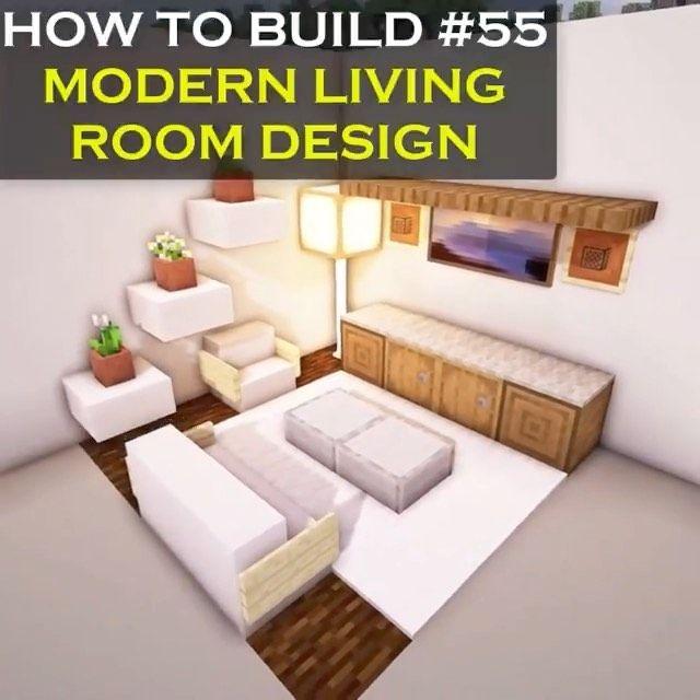 11 7 K Mentions J Aime 38 Commentaires Minecraft Builds Crafting Bench Sur Instagra Minecraft Room Minecraft House Tutorials Minecraft Interior Design Living room ideas in minecraft