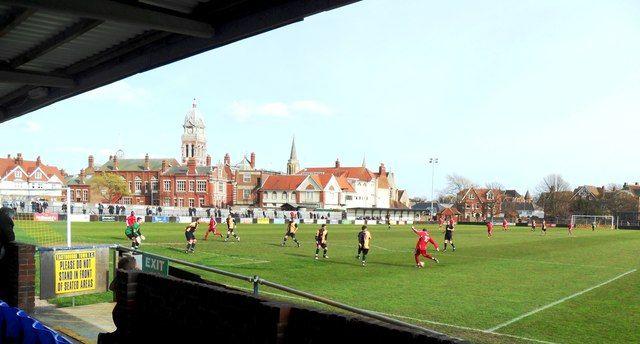 The Saffrons, Home to Eastbourne Town FC (Ryman League D1 South)
