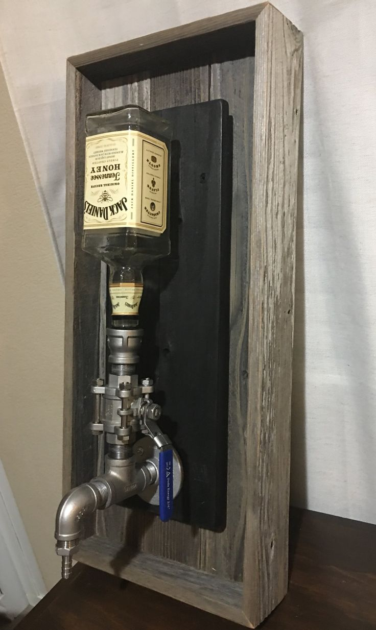 Wall Mount Liquor Dispenser Industrial Pipe Art Liquor