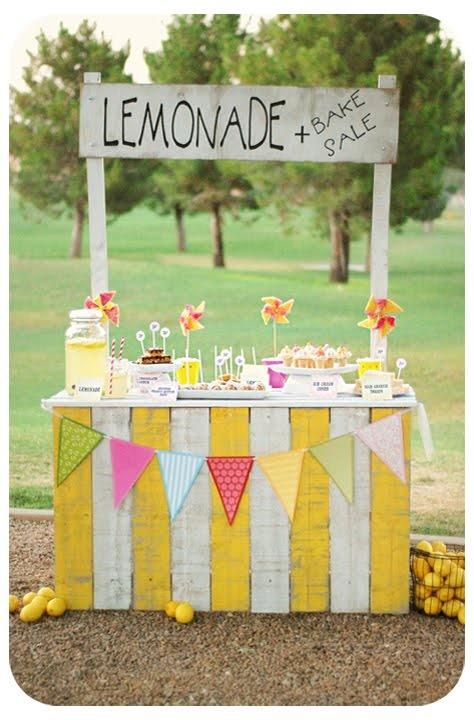 adorable lemonade and bake sale