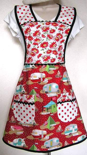 apron with Mary Jane Butter's glamping fabric