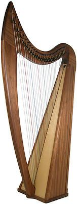 Available now to order, limited numbers, please contact us for details.  musicality.stalybridge@gmail.com An excellent harp, handcrafted in the USA. Complete with 29 levers to allow access to more keys. The traditional styling and warm rich sound make it perfect for celtic and folk playing while the low string tension makes it easy on the hands.
