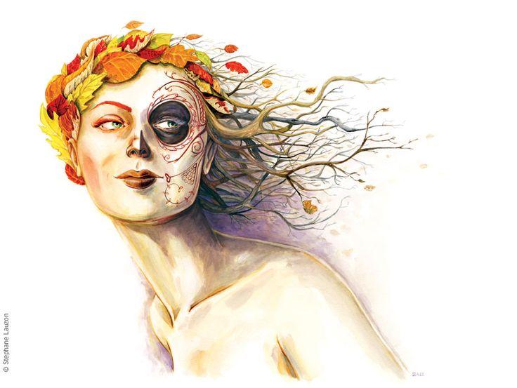 Dame Automne - Stephane Lauzon Illustration