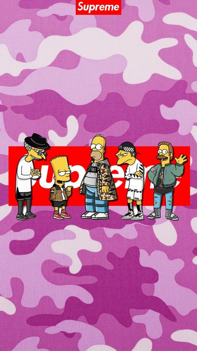 Pin by Randy on Supreme in 2019 | Simpson wallpaper iphone ...