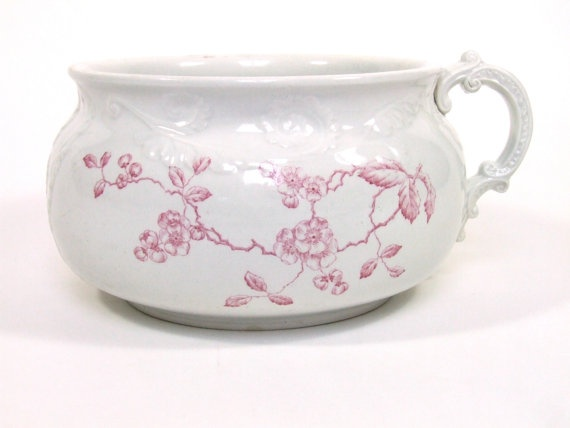 Antique Chamber Pot ELP Co Waco China Red by WdWsDesignTrends, $45.99 - 81 Best Chamber Pots Images On Pinterest History, Finals And