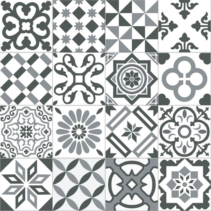 Carrelage imitation ciment gris et blanc mix 20x20 cm antigua gris 1m ca - Carrelage imitation carreaux ciment ...