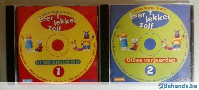 Software voor de allerkleinsten. - deel 1 : In de speeltuin - deel 2 : Ollies verjaardag Van Deagostini. Nieuw in de box.