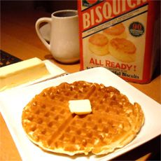For when you just dont want to go through the hassle of making belgian waffles... really good though!