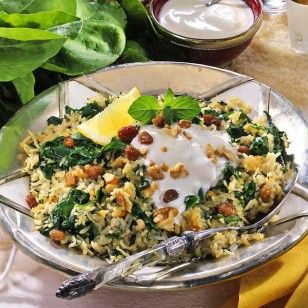 Das Rezept für Persischer Spinat-Reis und weitere kostenlose Rezepte auf LECKER.d