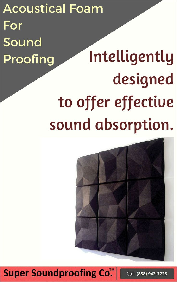 Super Soundproofing™ Acoustical Foam Panels and Hanging Baffles for Reflective Sound Control