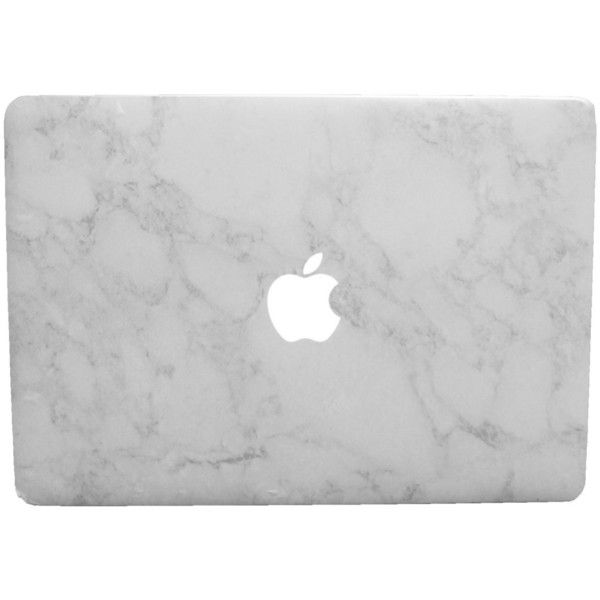 "FREE iPhone 5/6 SKIN W/ PURCHASE! White Marble Macbook Air 13"" (All... (300 ZAR) ❤ liked on Polyvore featuring accessories and tech accessories"